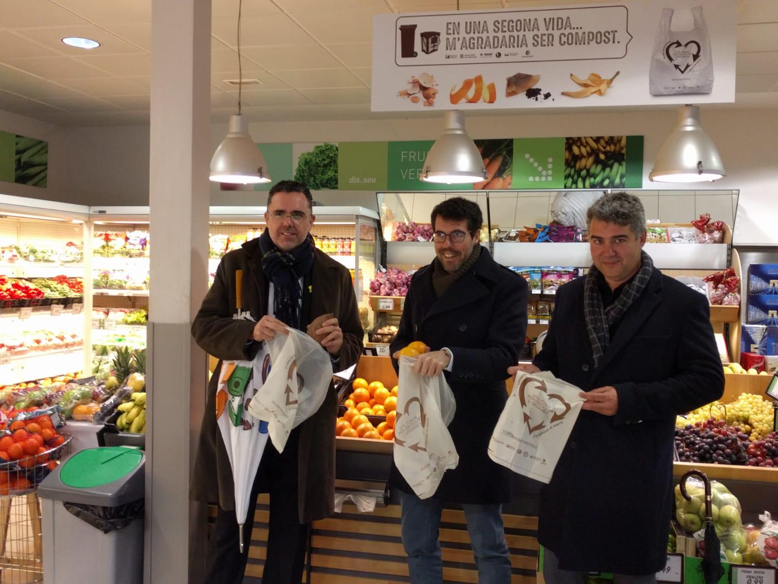 Proyecto pionero de economía circular en la Seu d'Urgell para la eliminación de bolsas de plástico en comercios